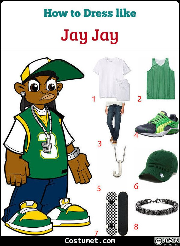 Jay Jay Wild Grinders Costume for Cosplay & Halloween