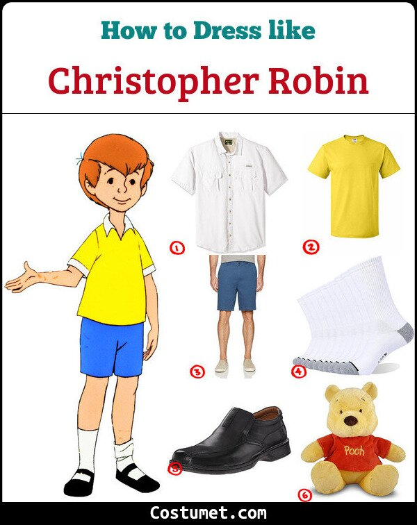 Christopher Robin Costume for Cosplay & Halloween