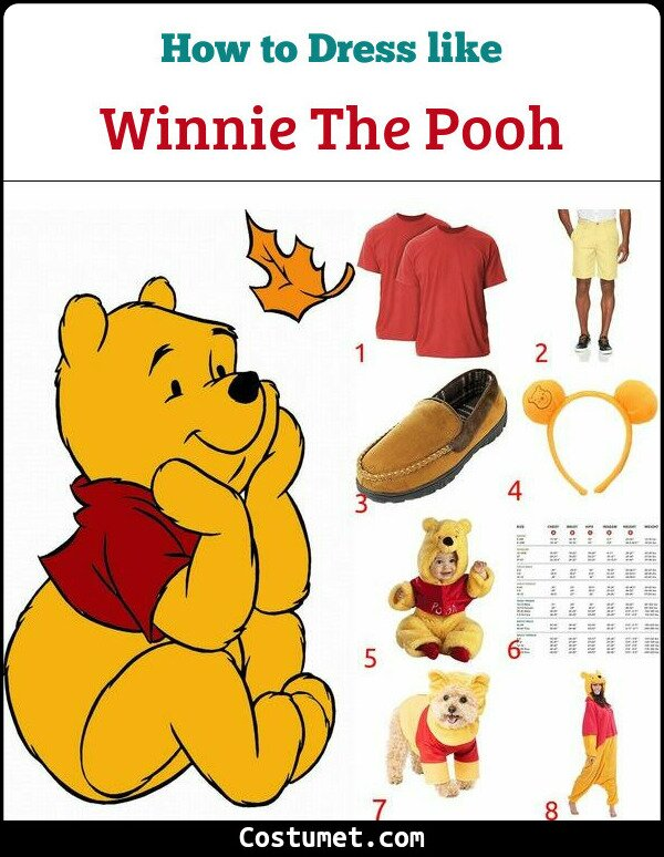 Winnie The Pooh Costume for Cosplay & Halloween