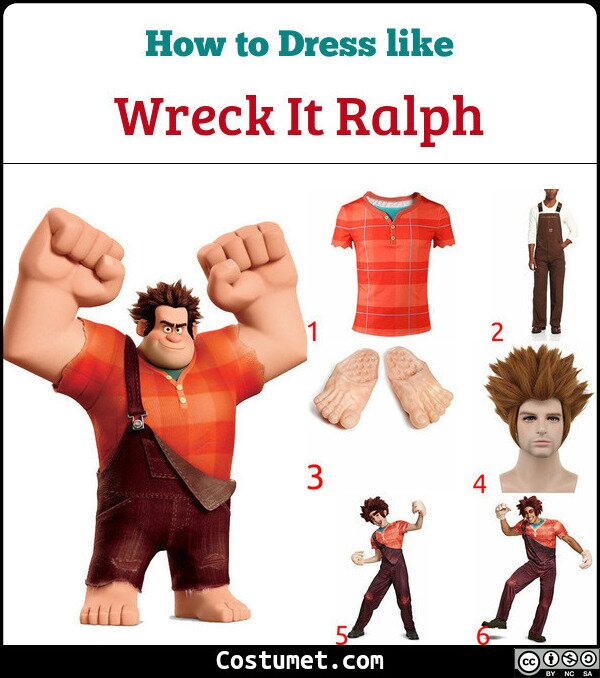 Wreck It Ralph Costume for Cosplay & Halloween