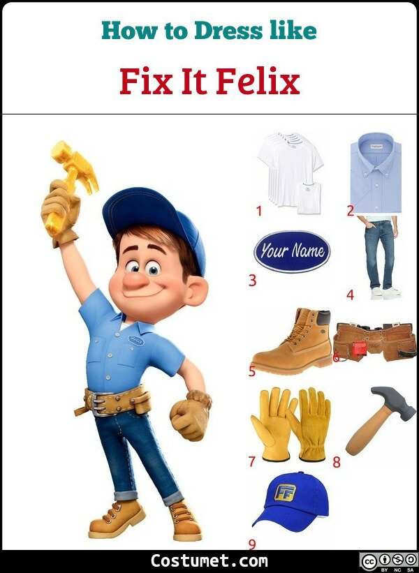 Fix It Felix Costume for Cosplay & Halloween