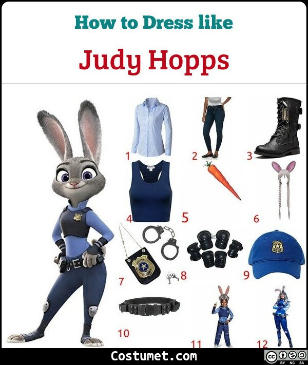 Judy Hopps Costume for Cosplay & Halloween