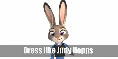 Judy Hopps is country bumpkin but she's shed her plaid shirts for something more challenging. She is mostly seen wearing her Zootopia police officer uniform.