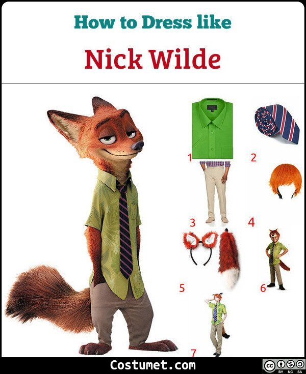 Nick Wilde Costume for Cosplay & Halloween