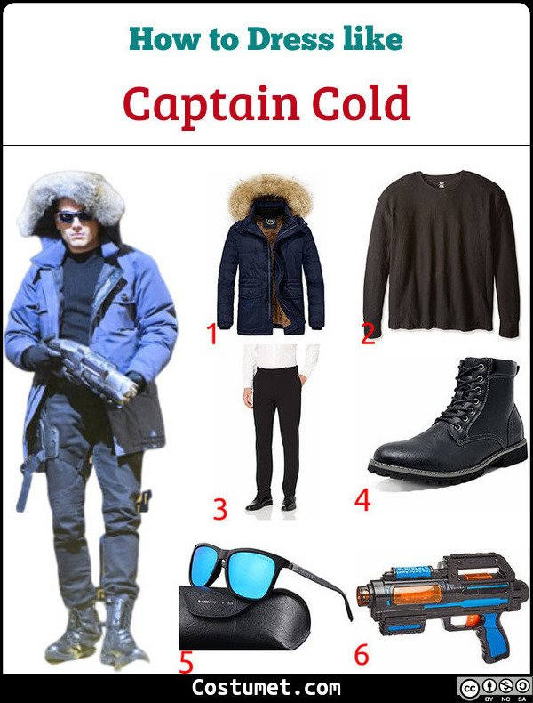 Captain Cold Costume for Cosplay & Halloween