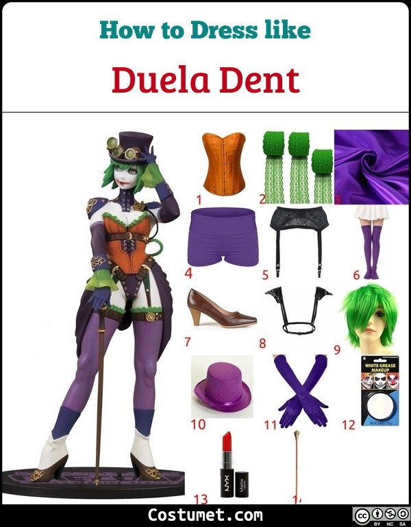 Duela Dent Costume for Cosplay & Halloween