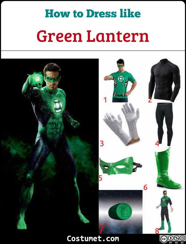 Green Lantern Costume for Cosplay & Halloween