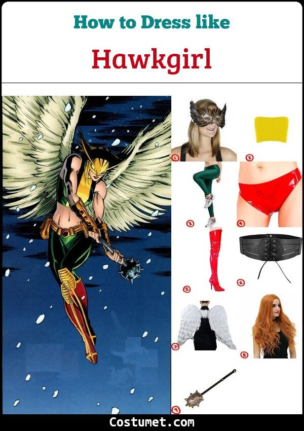 Hawkgirl Costume for Cosplay & Halloween