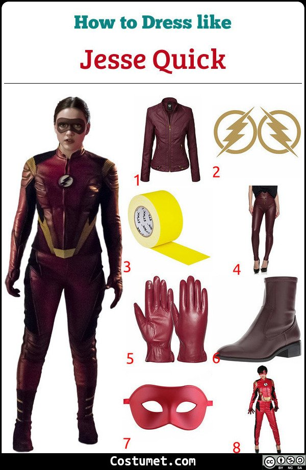 Jesse Quick Costume for Cosplay & Halloween