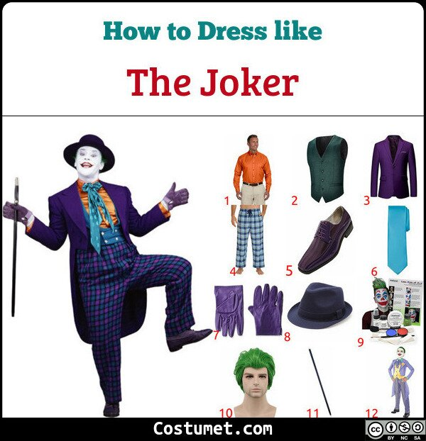 The Joker Costume for Cosplay & Halloween