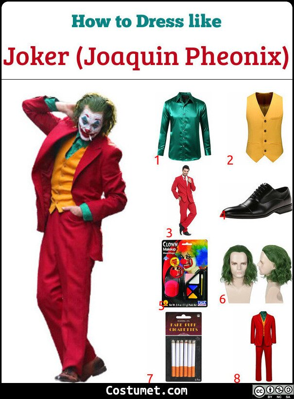 Joker (Joaquin Pheonix) Costume for Cosplay & Halloween