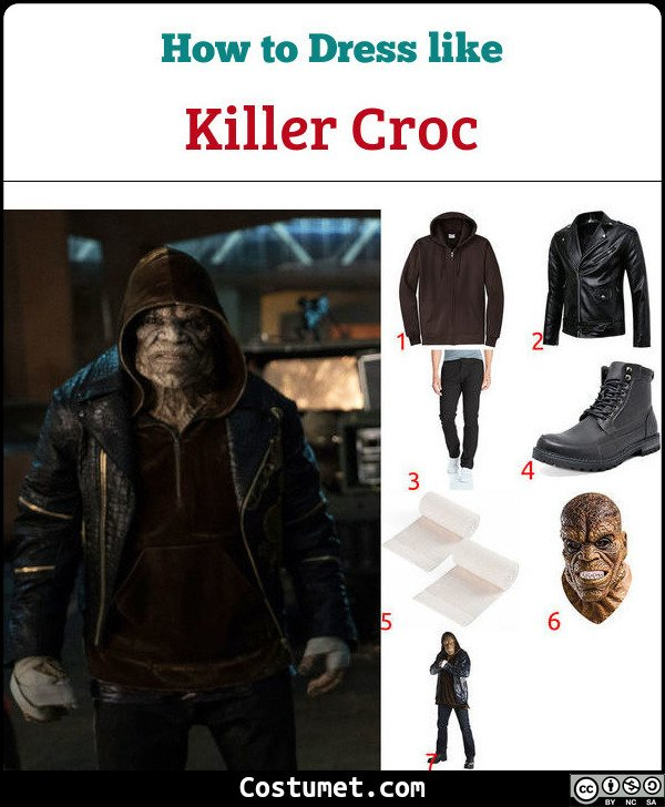 Killer Croc Costume for Cosplay & Halloween