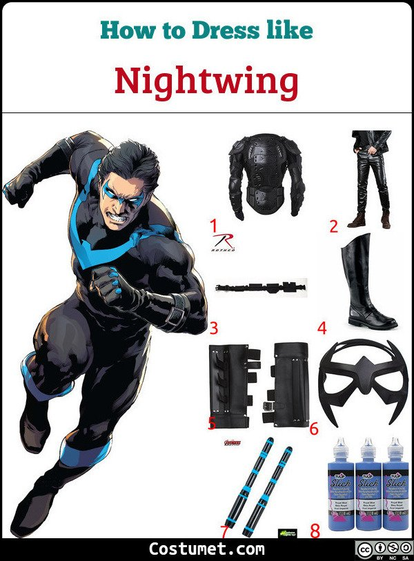 Nightwing Costume for Cosplay & Halloween
