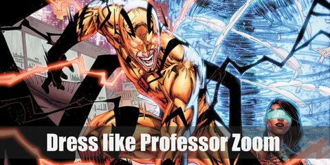 Professor Zoom has the same yellow suit with red accents as the Flash did.