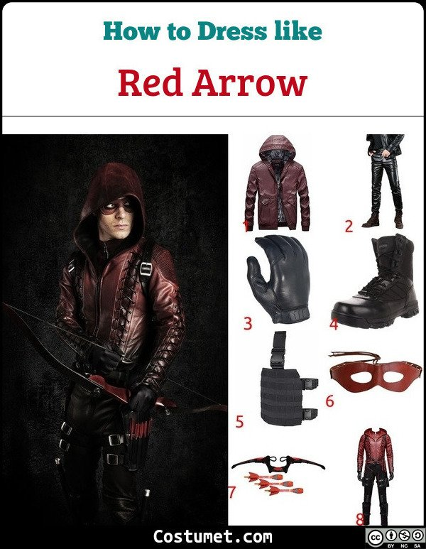 Red Arrow Costume for Cosplay & Halloween