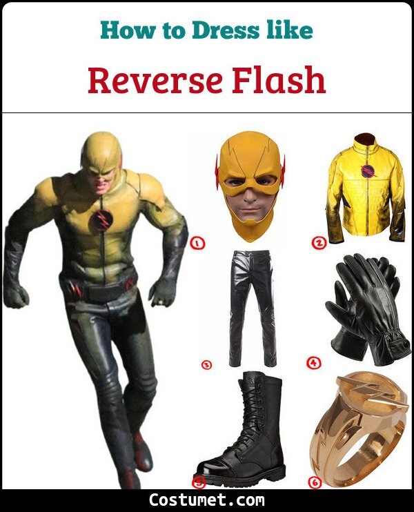 Reverse Flash Costume for Cosplay & Halloween