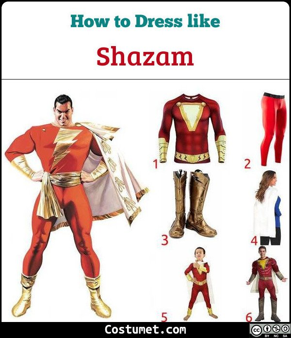 Shazam Costume for Cosplay & Halloween
