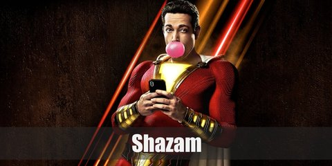 Billy Batson is one lucky kid when he was given the ability to become Shazam. He wears an all-red spandex with a lightning design on his chest, and gold details all over his outfit.