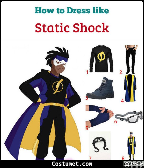 Static Shock Costume for Cosplay & Halloween