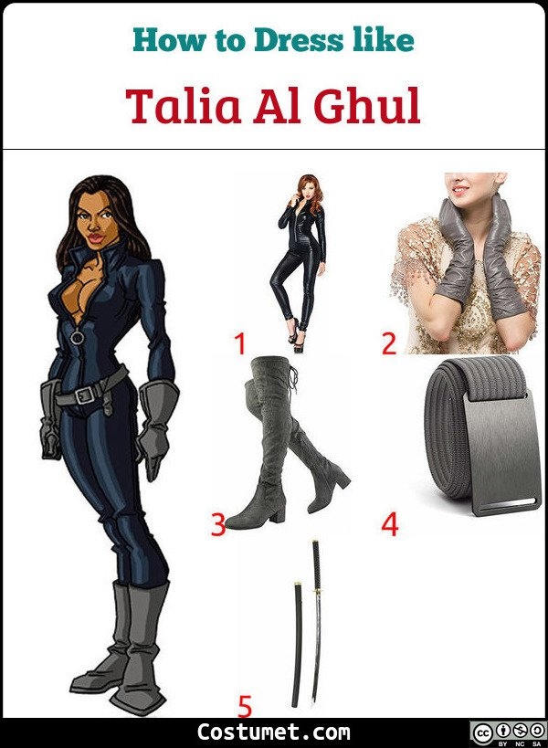 Talia Al Ghul Costume for Cosplay & Halloween