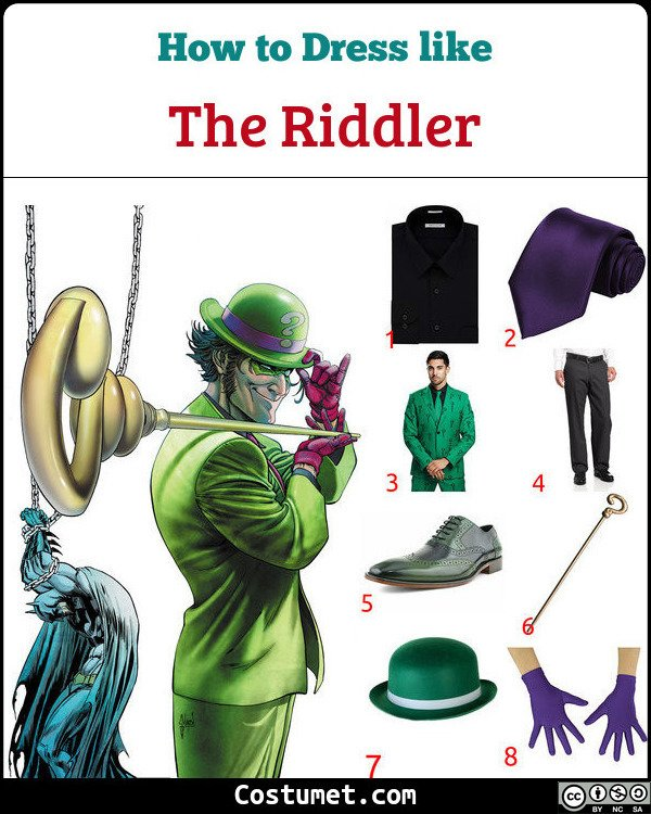 The Riddler Costume for Cosplay & Halloween