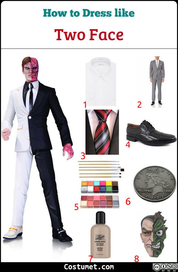 Two Face Costume for Cosplay & Halloween