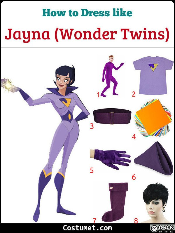 Jayna Wonder Twins Costume for Cosplay & Halloween