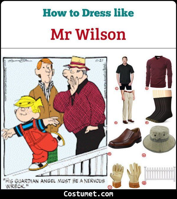 Mr Wilson from Dennis the Menace costume guide