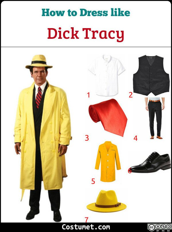 Dick Tracy Costume for Cosplay & Halloween