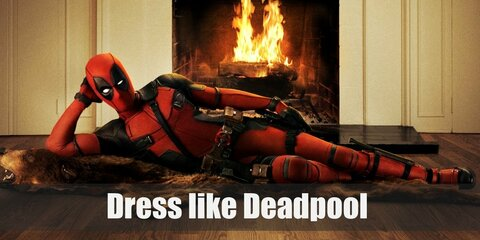Deadpool outfit is very similar to Spiderman's suit, being that it is a one-piece suit with a tight hood hiding the identity of the wearer.