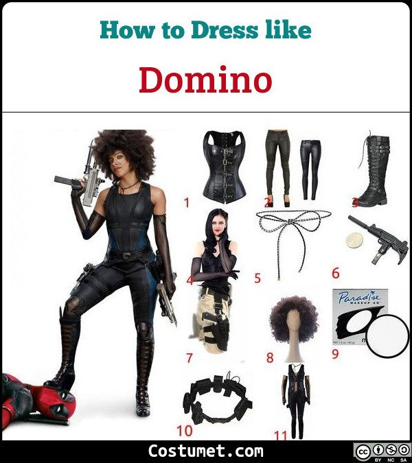 Domino Costume for Cosplay & Halloween