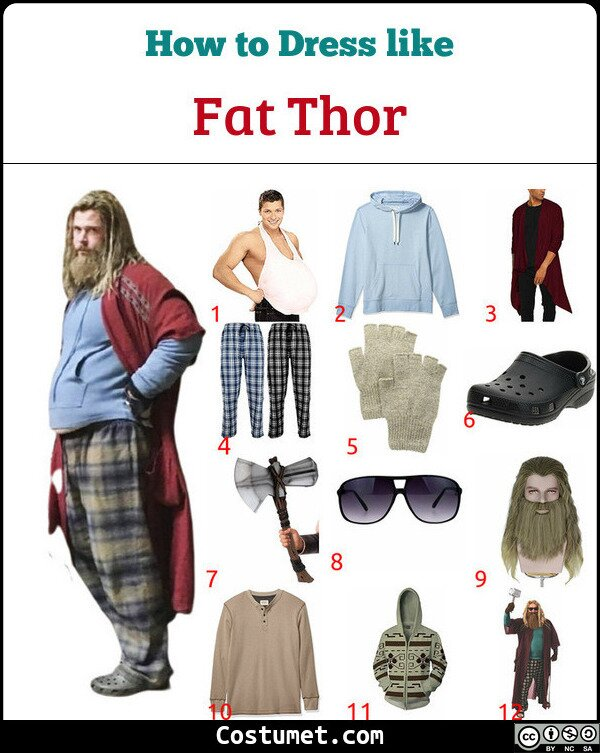 Fat Thor Costume for Cosplay & Halloween