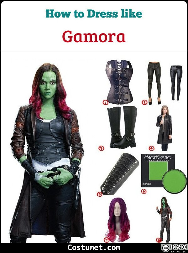 Gamora Costume for Cosplay & Halloween