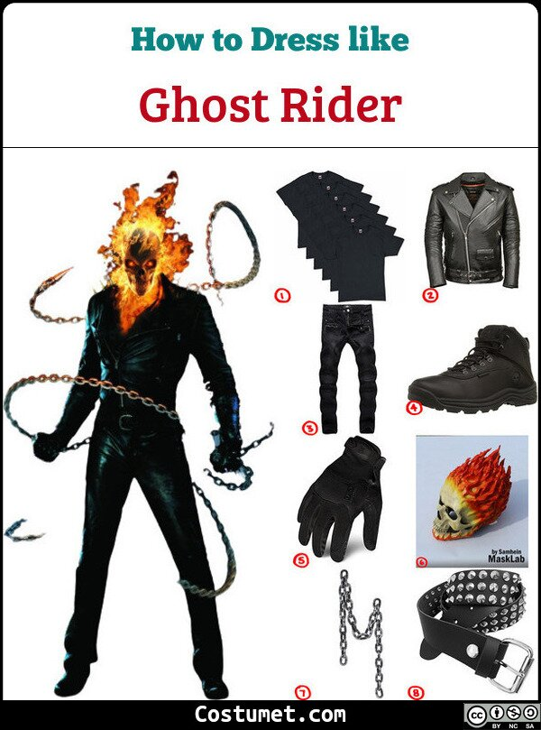Ghost Rider Costume for Cosplay & Halloween