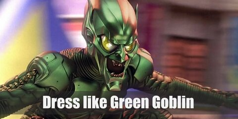 Green Goblin's classic costume is still the outfit that many die-hard fans would associate with him. Think green and purple and kaboom! You have the Green Goblin.