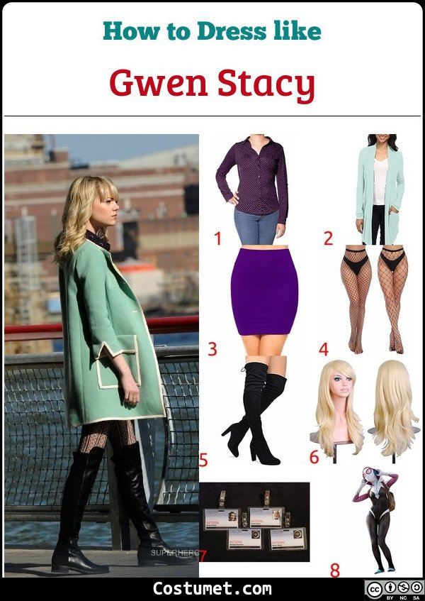 Gwen Stacy Costume for Cosplay & Halloween