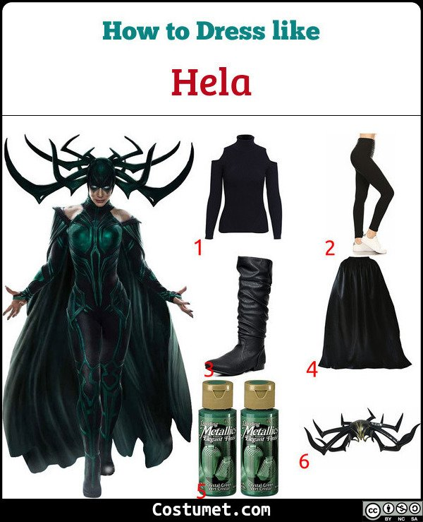 Hela Costume for Cosplay & Halloween