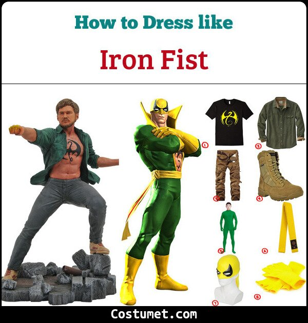 Iron Fist Costume for Cosplay & Halloween