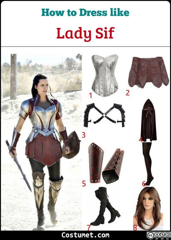 Lady Sif Costume for Cosplay & Halloween