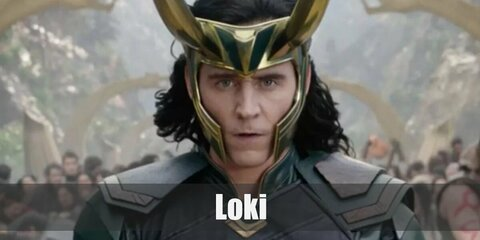 Loki is the mischievous brother of Thor. Loki's costume is a black top, black pants, black knee-high boots, and a green and gold open jacket. He also wears a gold, long-horned helmet and has a scepter.