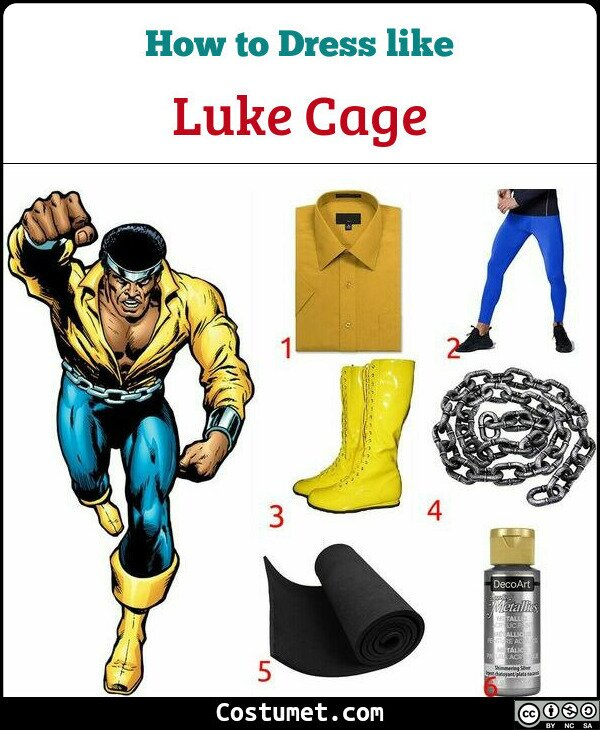 Luke Cage Costume for Cosplay & Halloween