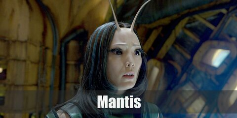 Mantis's costume is a sleeveless green turtleneck, and sleeveless green vest, green fingerless gloves, black pants, and black boots. Mantis can sense and manipulate feelings because she is an empath.