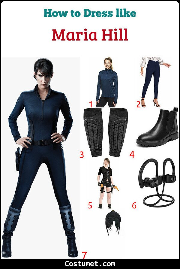 Maria Hill Costume for Cosplay & Halloween