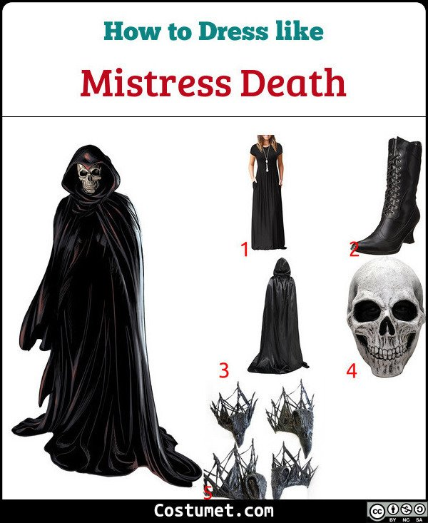 Mistress Death Costume for Cosplay & Halloween