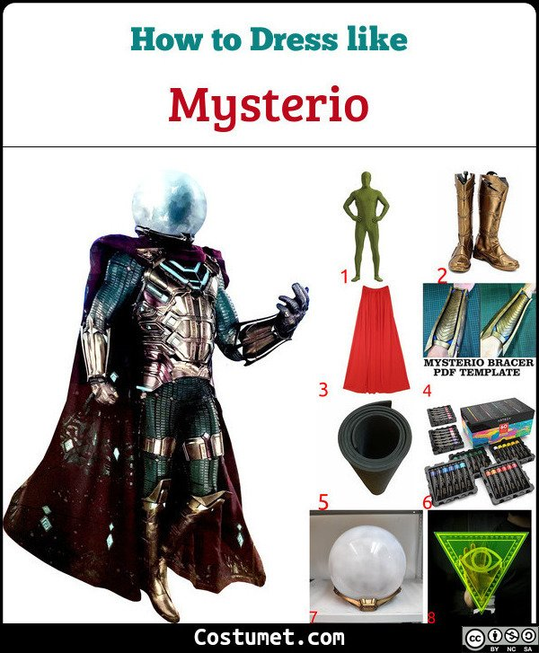 Mysterio Costume for Cosplay & Halloween