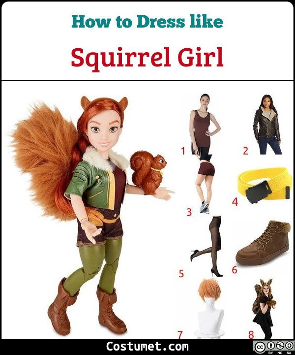 Squirrel Girl Costume for Cosplay & Halloween