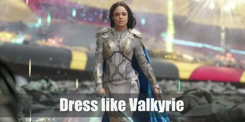 Valkyrie's costume is a black leather vest, black leather pants, a blue cape, black knee-high boots, and a pair of long black gloves. She is also known for having a Valkyrie sword and dagger.