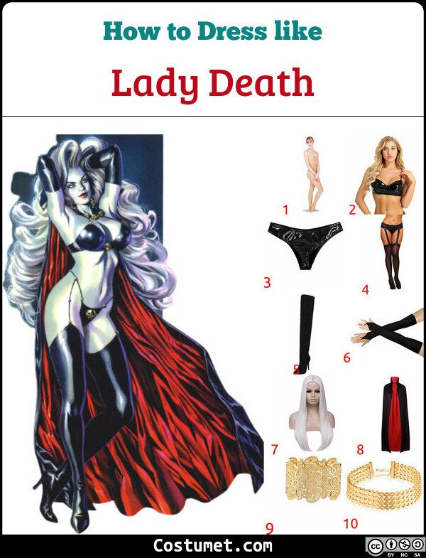 Lady Death Costume for Cosplay & Halloween
