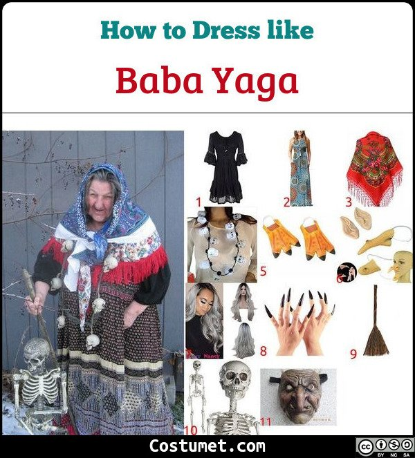 Baba Yaga Costume for Cosplay & Halloween