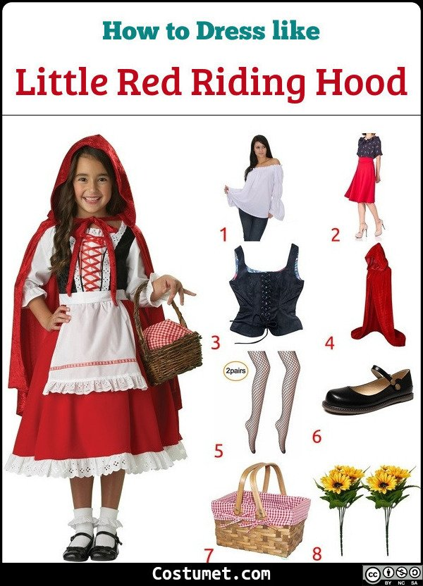 Little Red Riding Hood Costume for Cosplay & Halloween